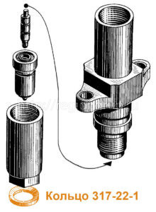 Кольцо уплотнительное под форсунку (медное) 317-22-1
