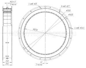 Муфта шинно-пневматическая ШПМ 1070х200-I односторонняя 4066.43.025 СБ