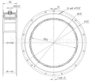 Муфта шинно-пневматическая ШПМ 500х125-II двухсторонняя 4066.41.040 СБ