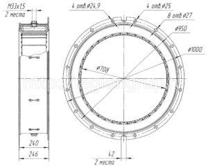 Муфта шинно-пневматическая ШПМ 700х200-I односторонняя 4066.42.025 СБ