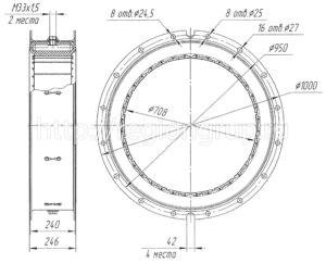 Муфта шинно-пневматическая ШПМ 700х200-II двухсторонняя 4066.42.040 СБ