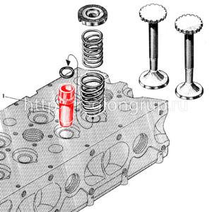Направляющая втулка клапана 306-17-4 (506-17-6)