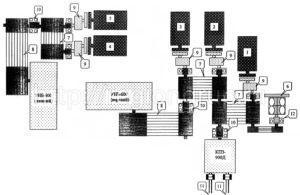 Схема расположения силовых агрегатов буровой установки 3Д-76