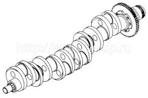 Вал коленчатый В-46 3305-01-17 сб. (3305-03-15)
